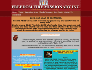 freedomfireoutreach.org screenshot