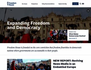 freedomhouse.org screenshot
