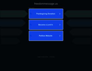 freedommessage.us screenshot