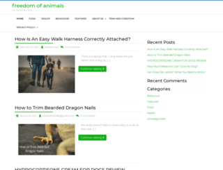 freedomofanimals.com screenshot