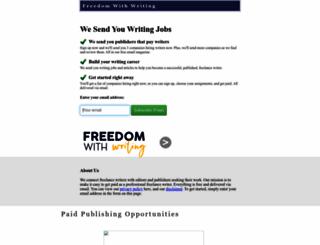freedomwithwriting.com screenshot