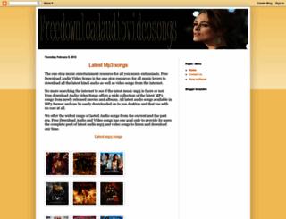 freedownloadaudiovideosongs.blogspot.com screenshot
