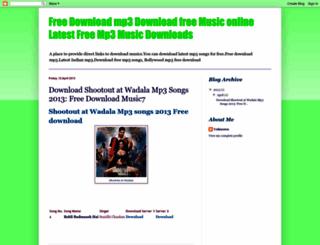 freedownloadmusic7.blogspot.in screenshot