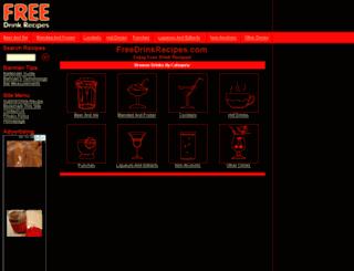 freedrinkrecipes.com screenshot