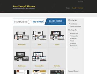 freedrupalthemes.net screenshot