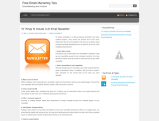 freeemailmarketingtips.wordpress.com screenshot