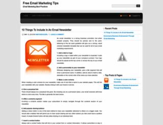freeemailmarketingtips.wordpress.com screenshot