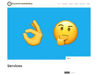 freeemoticonsandsmileys.com screenshot