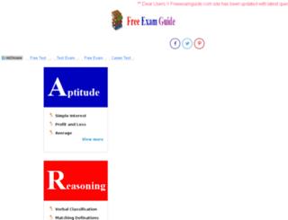 freeexamguide.com screenshot