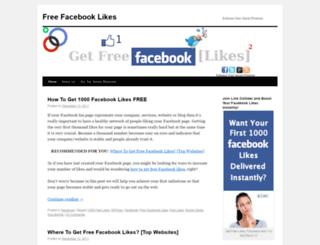 freefacebooklikes.wordpress.com screenshot