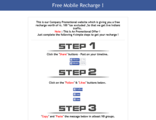 freefacebookrecharge.biz screenshot