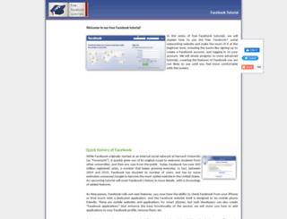 freefacebooktutorials.com screenshot
