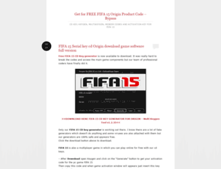 freefifa15originpcproductcode.wordpress.com screenshot