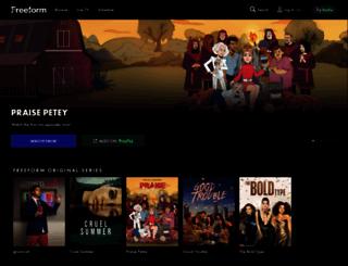 freeform.com screenshot