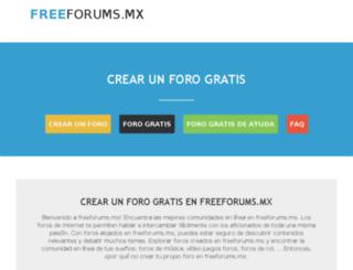 freeforums.mx screenshot