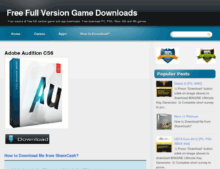 freefullversion-gamedownloads.blogspot.com screenshot
