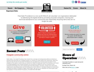 freegeekprovidence.org screenshot
