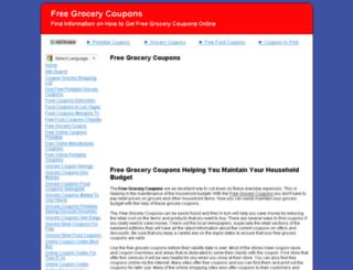 freegrocerycoupons.biz screenshot