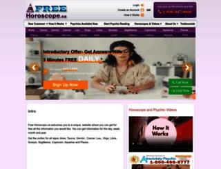 freehoroscope.ca screenshot