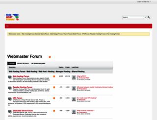 freehostforum.com screenshot