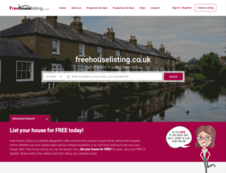 freehouselisting.co.uk screenshot