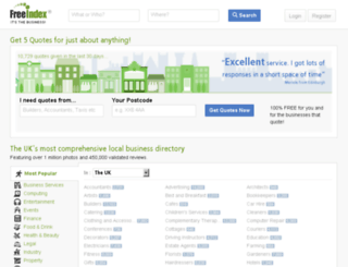 freeindex.co.uk screenshot