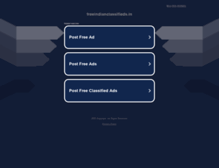 freeindianclassifieds.in screenshot