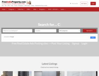 freeindiaproperty.com screenshot