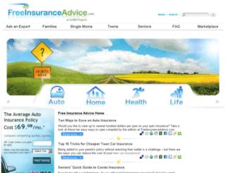 freeinsuranceadvice.com screenshot