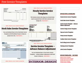 freeinvoicetemplates.org screenshot