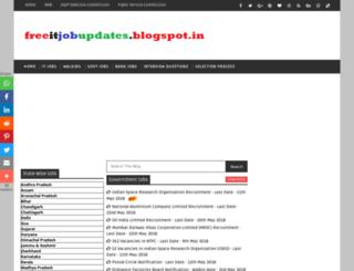 freeitjobupdates.blogspot.in screenshot