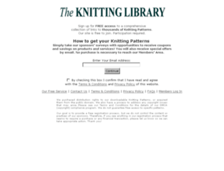 freeknittinglibrary.org screenshot