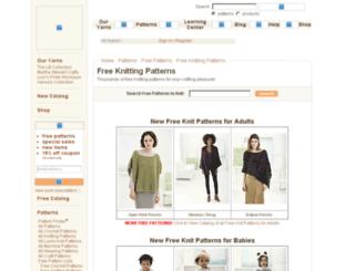 freeknittingpatterns.lionbrand.com screenshot