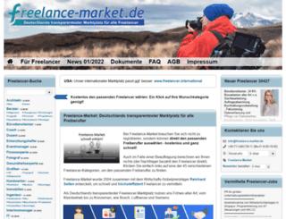 freelance-market.de screenshot
