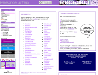 freelance-writers.co.uk screenshot