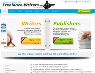 freelance-writers.net screenshot