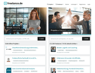freelance.co.uk screenshot