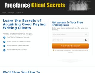 freelanceclientsecrets.com screenshot