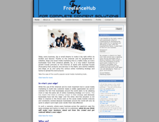 freelancehub.wordpress.com screenshot