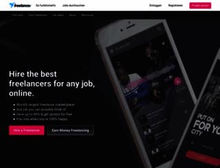 freelancer.de screenshot