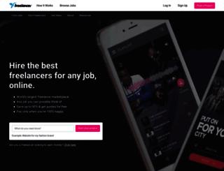 freelancer.ie screenshot