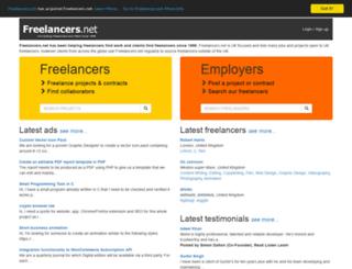 freelancers.net screenshot