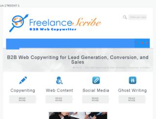 freelancescribe.net screenshot