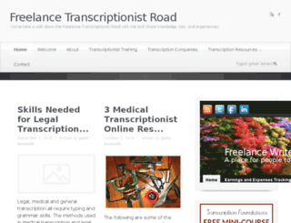 freelancetranscriptionistroad.com screenshot
