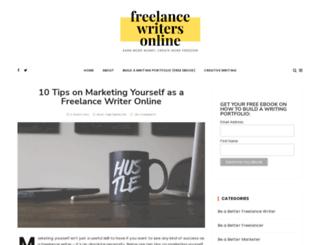 freelancewritersonline.com screenshot