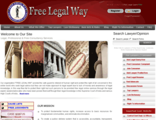 freelegalway.in screenshot