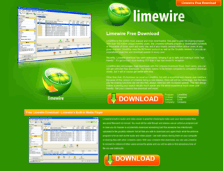 freelimewiredownload.net screenshot