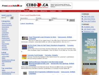 freelocalads.ca screenshot