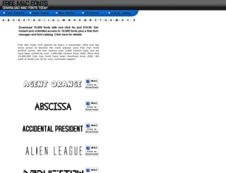 freemacfonts.com screenshot