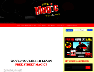 freemagictricks4u.com screenshot